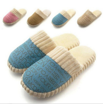 2020 Autumn Winter Warm Non-Slip Slipper Men Women Cotton-padded Home Slippers Rubber Sole Sewing Indoor Soft Plush Shoes 1