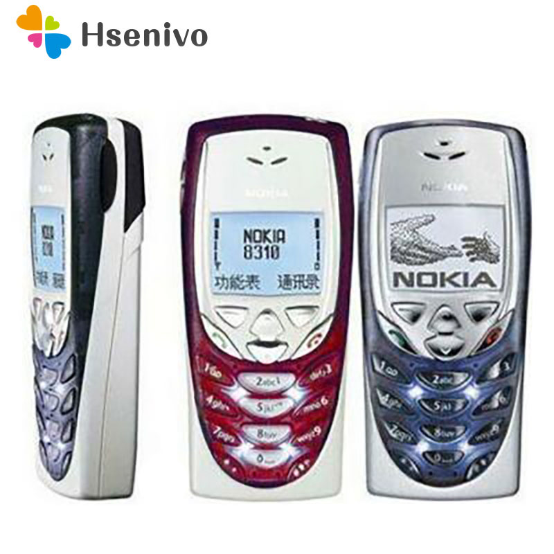 8310 Original Unlocked Nokia 8310 2G GSM Unlocked Cheap Refurbished Celluar Phone One Year Warranty Free Shipping