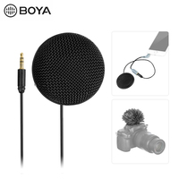 BOYA BY MM2 Microphone Stereo Omnidirectional Conderser / with Furry Windscreen & 3.5mm TRS plug Power by 1pcs LR44 battery