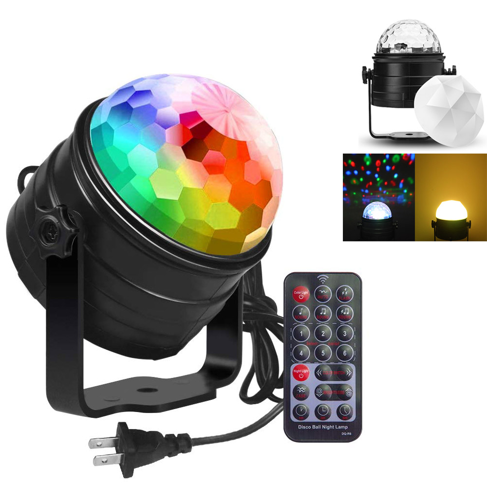ZK20 Sound Control LED Disco Light DJ Party KTV Stage Light Night Lamp Family Room Portable KTV Ambient Lights Music Laser Ball