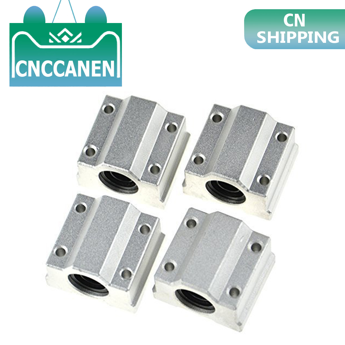 4pcs/lot SCS8UU SCS6UU SCS10UU SCS12UU SCS8LUU SCS10LUU SCS16UU 8mm Linear Ball Bearing Block CNC Router 3D Printer Parts