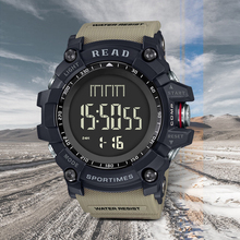 Men Military Watch LED Digital Outdoor Sport Watch 30m Waterproof Wristwatch READ Male relogios masculino Shock Resist Watches cheap NONE STAINLESS STEEL CN(Origin) 24inch 30Bar Buckle ROUND 33mm 18mm Glass Stop Watch Back Light Shock Resistant LED Display