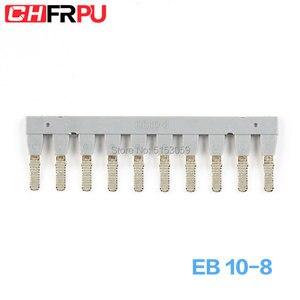 EB 10-8 подходит для UK6 боковой разъем din-рейка клеммный блок короткого замыкания Соединительная полоска