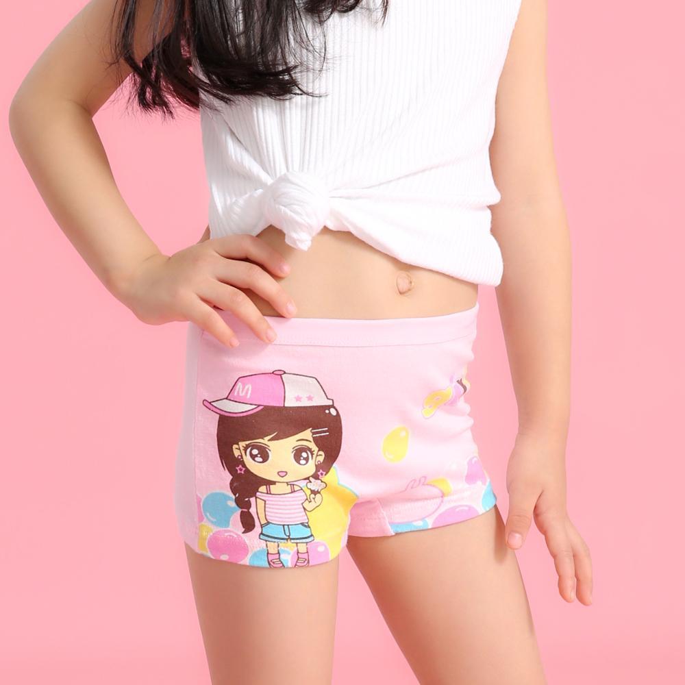 4pcs/lot Baby Kids Panties Cotton New Fashion Cartoon Printed Girls Briefs Boxer Underwear Training Pants Children Underpants