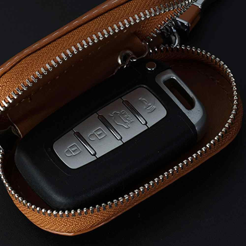 Pria Gantungan Kunci Pembantu Rumah Tangga Kulit Kunci Mobil Dompet Kunci Penyelenggara Perempuan Gantungan Kunci Penutup Ritsleting Kunci Tas Unisex Pouch
