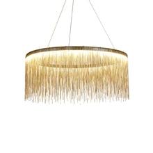 Nordic Restaurant Chandelier Light Luxury Creative Chain Tassel Post-modern Living Room Reception Bar Dining Table Villa lamp