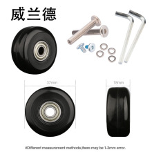 Replacement luggage suitcase wheels PU37*18mm  casters repair accessories  Boarding the chassis  luggage  Axles  Silent wheels