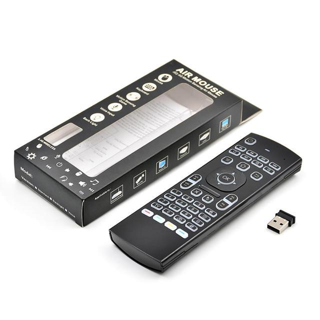 2.4Ghz airmouse MX3 Air Mouse bezprzewodowa klawiatura + głos dla androida Mini PC TV Box podświetlany pilot zdalnego sterowania