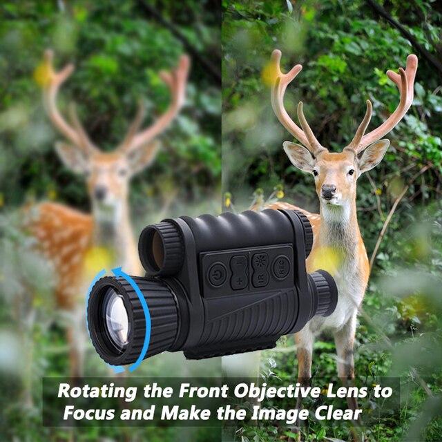 WG650 Night Vision Monocular  Night Hunting Scope Sight Riflescope Night Vision Telescope Optical Night Sight Free Ship 2