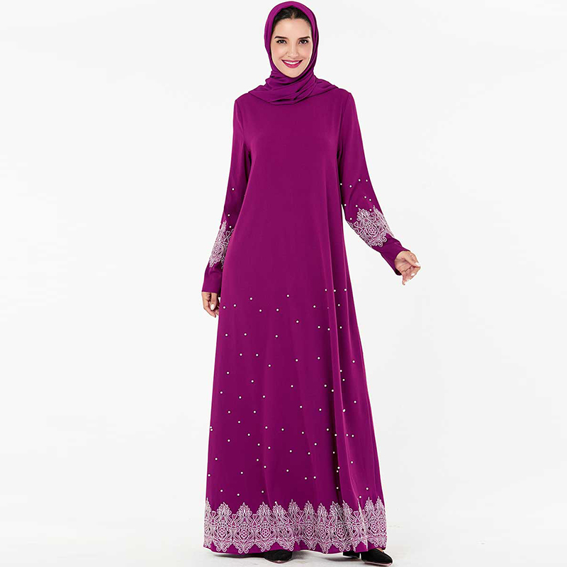 Plus Size Abaya Dubai Islamic Muslim Arabic Dress Kaftan Women Hijab Dresses Turkey Caftan Robe Musulmane Baju Muslim Wanita