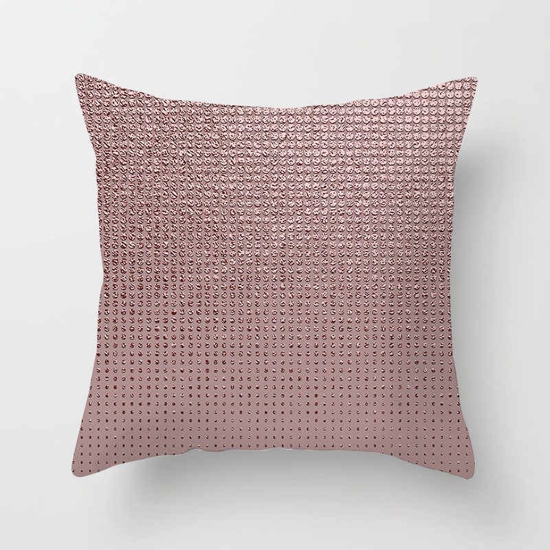 OLOEY 1PC 45x45cm Buy 5 Get 1 Pillow Case Cover Plaid Geometric Color New Linen Printed Peach Suede Pillowcase Home in Pillow Case from Home Garden