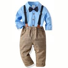 Boy Suits Wedding Suit For Boys Kids Formal Prince School Student Dress Gentleman Kids Shirt Pants Bowtie Gentleman Costume