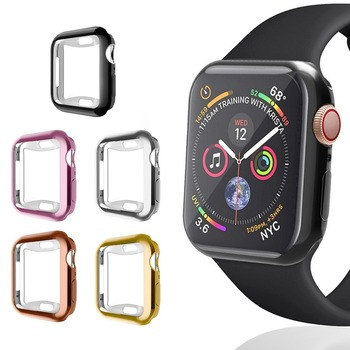 TPU Watch Cover for Apple Watch Case 5 4 3 2 1 44MM 40MM 42MM 38MM Clear Full Screen Protector for IWatch Watch Bumper Skin image
