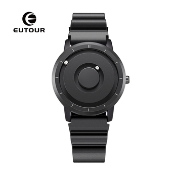EUTOUR New Innovative Blue Gold Magnetic Metal Multifunctional Watch Men's Fashion Sports Quartz Watch Simple Men's Watch new and innovative blue gold magnetic metal parallel time and space watch men s fashionable quartz watch simple men s watch