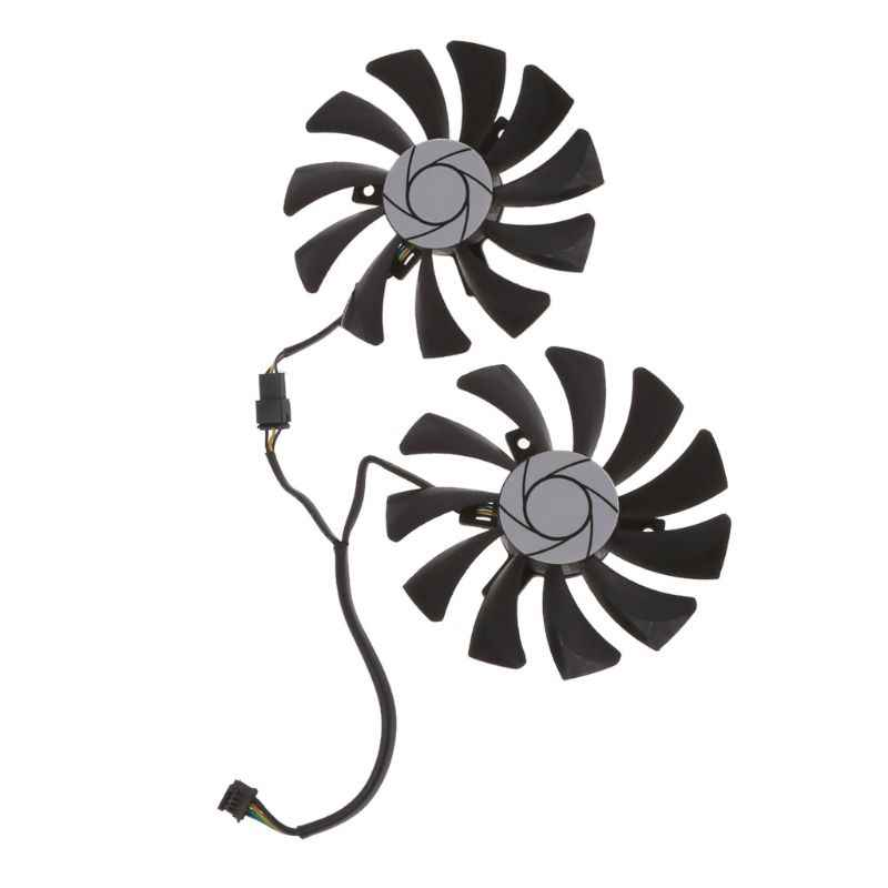 2Pcs/set HA9010H12SB-Z 12V 0.57A 3500 Rpm Hole Distance 40mm Graphics Card Cooling Fan for MSI GTX960