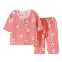 Детские пижамы на весну и лето комплекты одежды для сна мальчиков