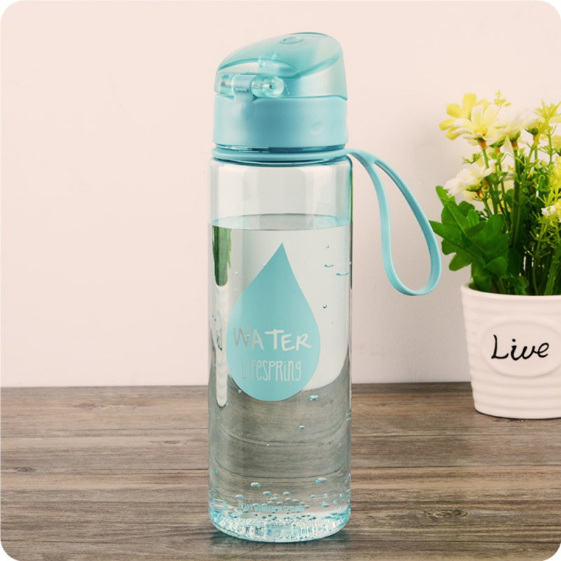 Water Bottle Plastic Sports Unisex Leak-proof Automatic Snap Portable Outdoor Drinkware Kitchen Dining Bar Supplies