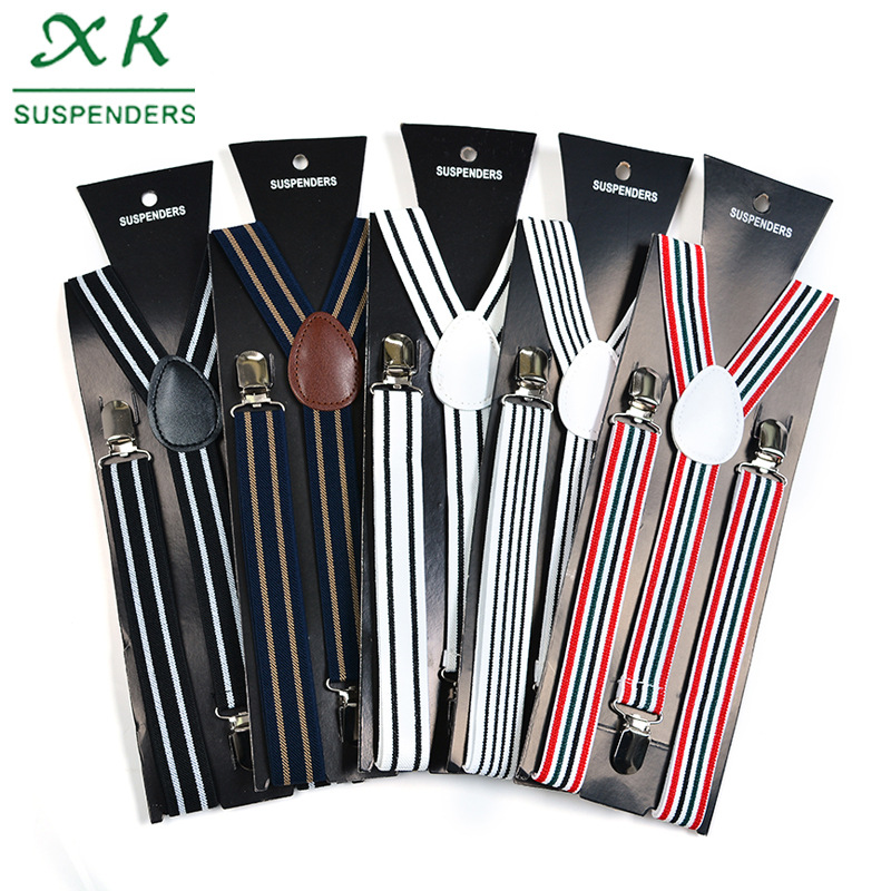Suspender Strap Men Woven Elastic Tape Adult Fashion Color Card