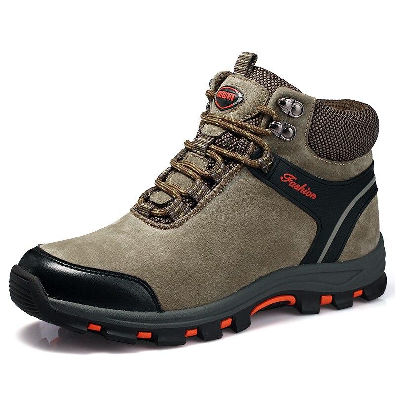 Outdoor Sneakers Men Hiking Shoes Waterproof Anti skidding Male Sport Shoes Wearable Keep Warm Winter Trekking Hunting Boots Men|Hiking Shoes|   - title=