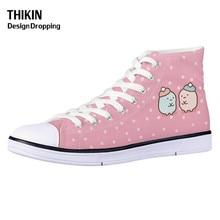 THIKIN Kawaii Sumikko Gurashi Cartoon Students Vulcanize Shoes Teen Girls High-t