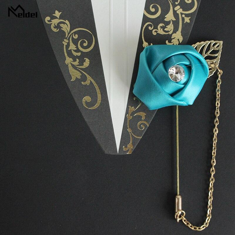 Wedding Corsage Flower Groom Boutonniere Buttonhole Rose Boutonniere Men Silk Flower Wedding Planner Marriage Corsage Pin Flower
