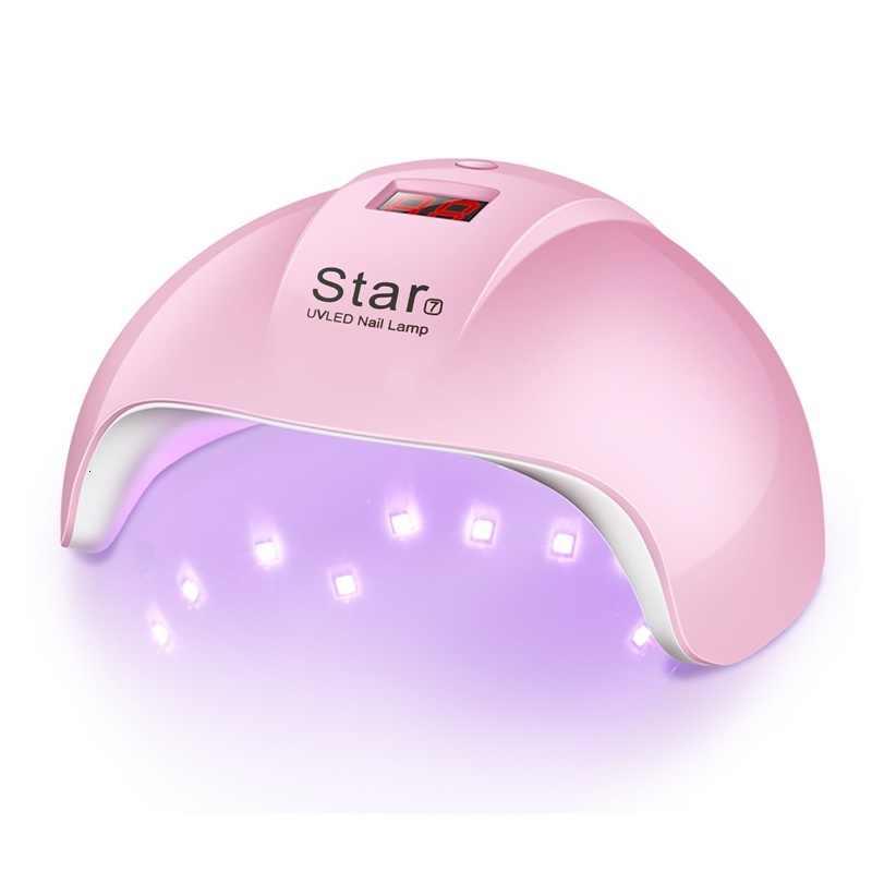Yıldız 7 tırnak kurutucu tırnak LED UV lamba 24W MINI USB lamba manikür için lcd ekran kurutma tüm jeller tırnak lehçe tırnak sanat araçları