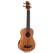 30 pollici Mini Electrica Chitarra Strumenti Musicali Pieno Sapele Retro Chiuso Knob Ukulele 4 corde Basso Chitarra Guitarra UB 113