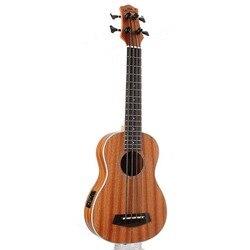 30 pollici Mini Electrica Chitarra Strumenti Musicali Pieno Sapele Retro Chiuso Knob Ukulele 4 corde Basso Chitarra Guitarra UB-113