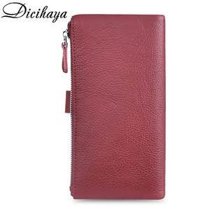 Image 3 - Dicihaya ホット販売の女性のクラッチ革財布女性長財布よりカード女性ジッパー財布マネーバッグ財布電話バッグ