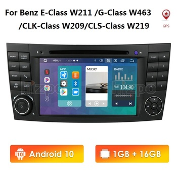 7 Inch IPS Android 10 2Din Car DVD Player GPS Stereo for Mercedes Benz E Class W211 E350 G CLK CLS W463 W209 W219 500 Navigation image