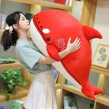 Jouets en peluche de Simulation tueur de baleine, Orcinus, Orca, poisson en peluche, requin rouge, dessin animé, oreiller de sommeil doux, cadeau amusant pour enfants et filles