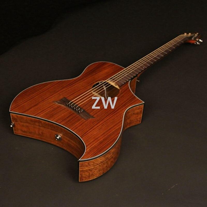 40 дюймов электроакустическая гитара Sharp Cutway орех Топ и задняя сторона хорошее качество лучший выбор для Святого Валентина Гитара      АлиЭкспресс