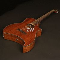 40in Electric Acoustic Guitar Sharp Cutway Walnut Top & Backside Good Quality Best choice for Valentines
