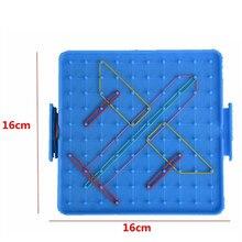 Пластиковая пластина для ногтей, начальная математика, гвоздь, инструмент, Геометрическая демонстрация, Детская развивающая игрушка, обучающие материалы, случайный цвет