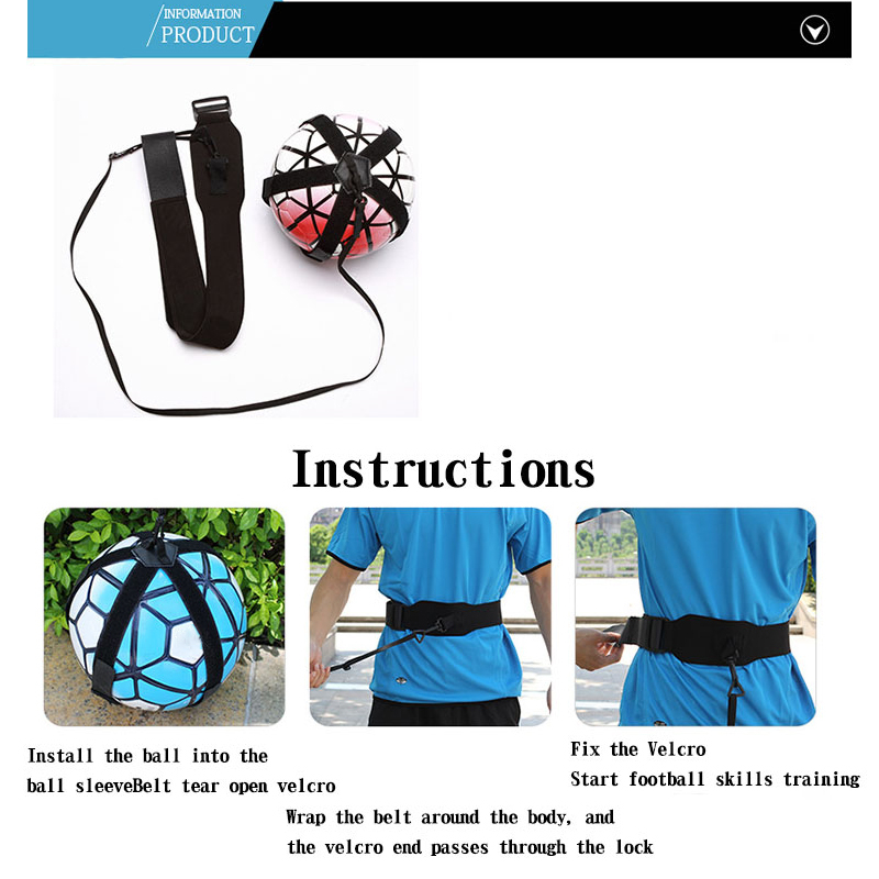 Football Training Belt Device Solo Auxiliary Training Ball Band Soccer Ball Kick Fitness Equipment for Primary Secondary Student