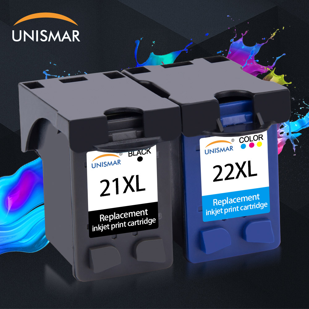 Unismar 21 22 XL Refilled Ink Cartridge Replacement For HP 21 22 HP21 HP22 21XL 22XL Deskjet F2180 F2280 F4180 F380 F2110 F300