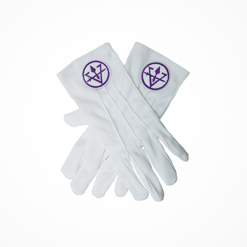 INFITI White Gloves High Quality Royal & Select White Cotton Masonic Gloves