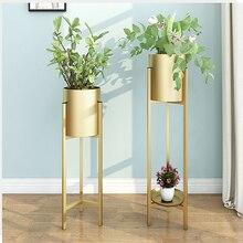 Outdoor furniture Nordic plants stand balcony shelf plant green succulent iron art rack simple floor light luxury Flower holders