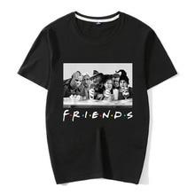 Horror Friends Pennywise Michael Myers Jason Voorhees Halloween Men T-Shirt Cotton matching T-shirt halloween horror shirt michael myers premium graphic t shirt s 5xl