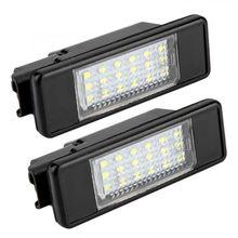 2 stücke 18 LED Perlen Kennzeichen LED Licht Lampe für Citroen C2 C3 C4 C5 C6 DS3 für PEUGEOT 106 207 307 308 406 407 508 1007 3008