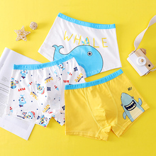 Boys Boxers Underpants Dinosaur 2-12-Years Children Cartoon Cotton 3pcs/Lot Dolphin