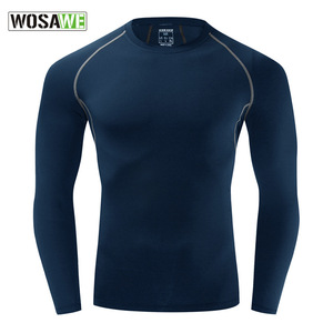 WOSAME Men's Cycling Sport Sleeves Sportswear Bodybuilding Sports Fitness Long Sleeves Clothes Camiseta Interior Ciclismo