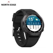 นาฬิกากันน้ำ NORTH EDGE นาฬิกาผู้ชายกีฬาทหาร LED นาฬิกาดิจิตอลนาฬิกา relogio masculino นาฬิกาบลูทูธ