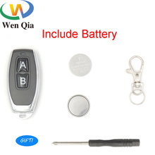 433Mhz Wireless RF Remote Control Transmitter with keychain For Garage Gate Door Controller Smart Home Alarm Receiver Switches free shipping 1 pcs lot new classic wireless metal remote control controller keyfobs keychain 433mhz just for our alarm system