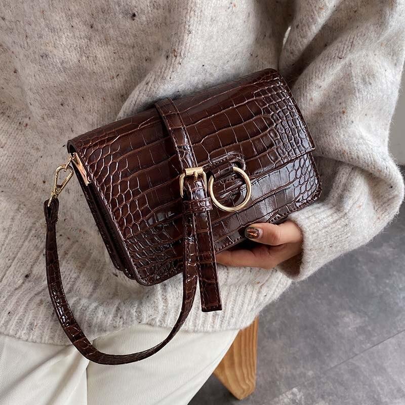 Stone Pattern PU Leather Mini Crossbody Bags For Women 2020 Retro Style Shoulder Messenger Bag Handbags And Purses