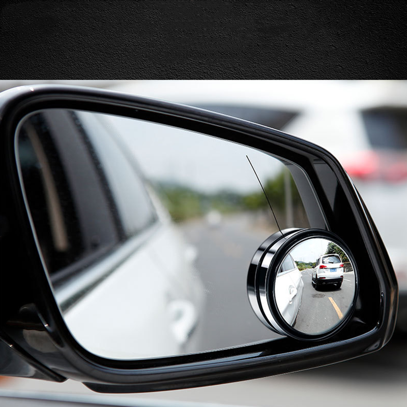 2pcs 360-degree Wide Angle Adjustable Rotation Round car goods Car Rearview Auxiliary Blind Spot Mirror  Accessories