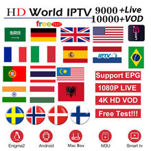 9000 Live Kanalen Europa Iptv Abonnement Uk Duits Arabisch Nederlandse Zweden Polen Portugal Smart Tv M3U Iptv(China)