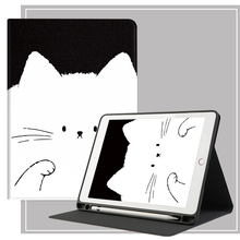 For iPad Air 2 3 Case Cute Cat For iPad Pro 11 Case 2020 Tablet Case Auto Sleep Wake