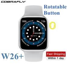 Cobrafly Nieuwe W26 Plus 44Mm Slimme Horloge 1.75 Inch Bluetooth Call Horloge W26 Pro IP68 Waterdichte Dual Ui Hart rate Fitness Tracker