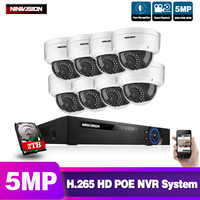 NINIVISION 8CH POE NVR Kit HD 5MP CCTV Kamera System 5.0MP Im Freien Wasserdichte Ip-kamera POE Home Security Video Überwachung set